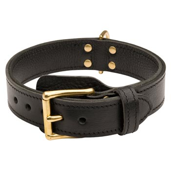 Swiss Mountain Dog  Leather Collar with Easy in Use Buckle