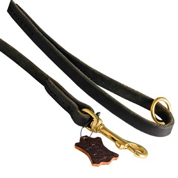 Handmade Leather Dog Leash with Floating O-Ring on The  Handle for Swiss Mountain Dog