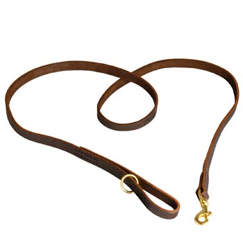 Durable Leather Swiss Mountain Dog Leash