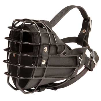 Winter Fully Wire Swiss Mountain Dog Padded Muzzle Cage