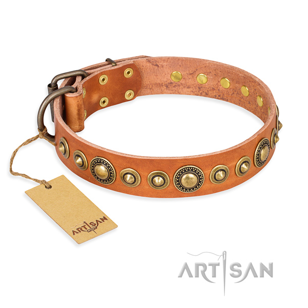 Best quality full grain leather collar handmade for your dog