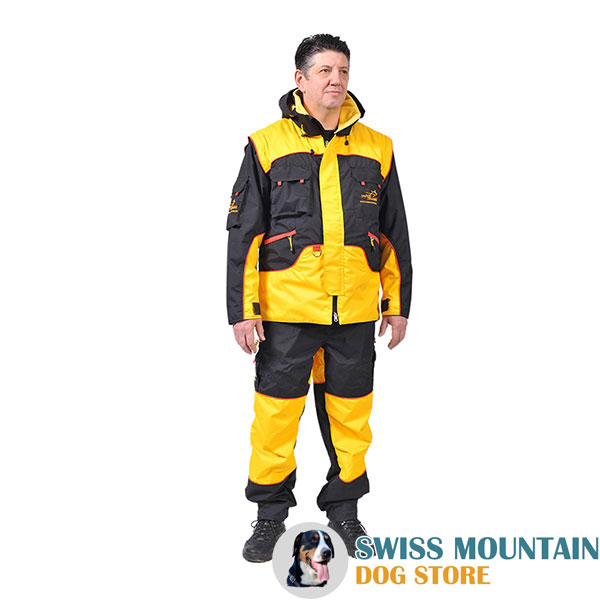 Protection Dog Training Suit of Water Resistant Membrane Fabric